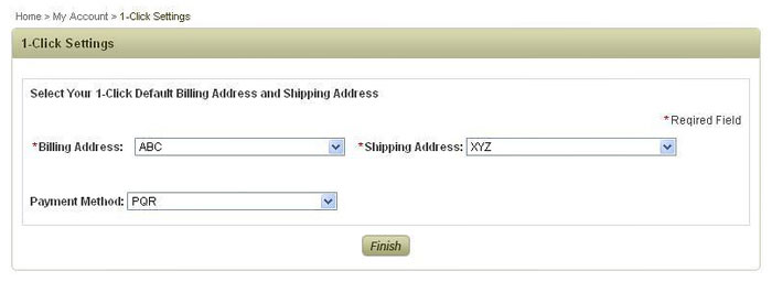 1-Click Setting for Fast Checkout