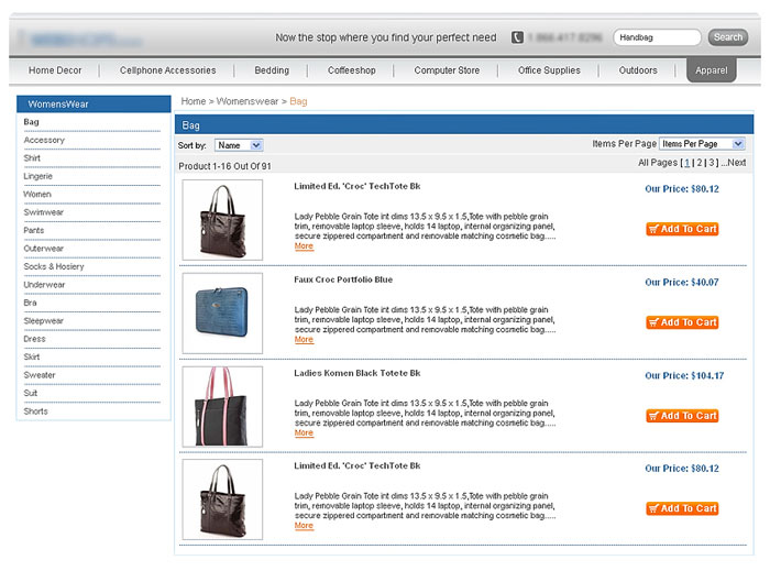 Product/Pricing Feed & Comparison Shopping Support Features