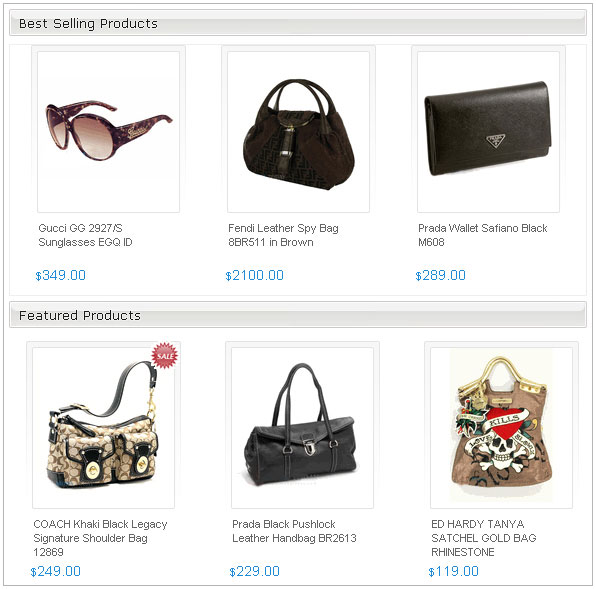 Promotional Products on home page